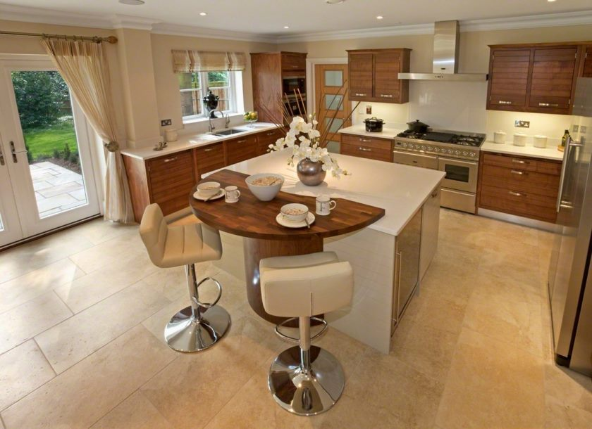 04-u-shape-kitchen-design-and-decoration-using-pedestal-white-leather-kitchen-island-stools-with-backs-including-modern-square-white-kitchen-island-and-solid-light-oak-wood-kitchen-cabinet
