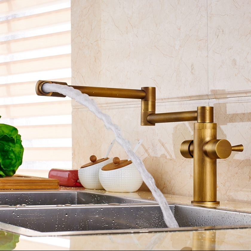 antique-brass-swivel-deck-mount-bathroom-font-b-kitchen-b-font-font-b-faucet-b-font