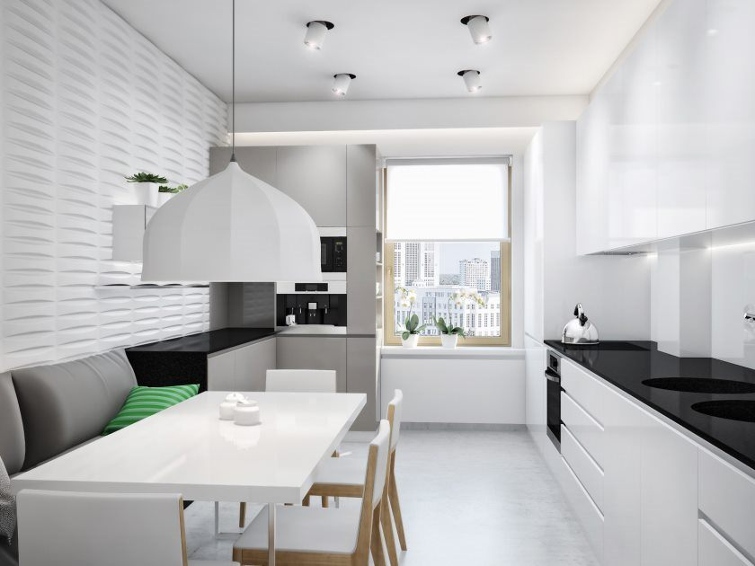 black-white-kitchen-diner