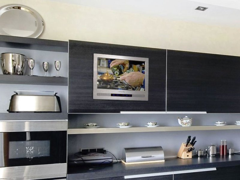 built-in-kitchen-tv