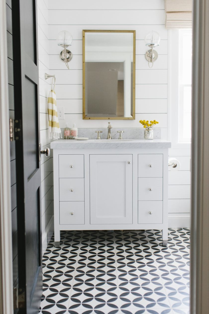 cement-tile-and-shiplap-bathroom-by-studio-mcgee