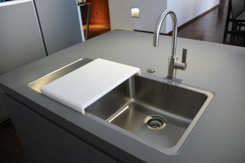 composite-kitchen-sinks-elegance-composite-kitchen-sink-stainless-steel-double-bowl-cutting-board-also-a-pull-down-faucet