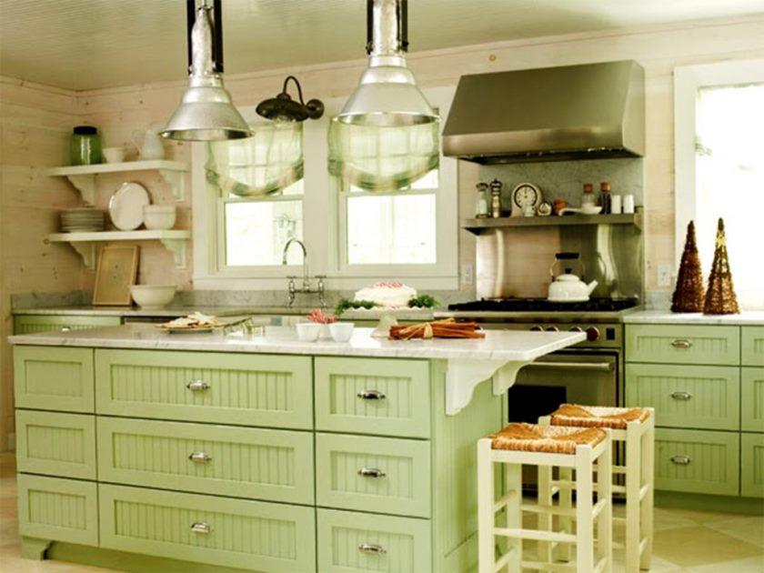 green-kitchen-cabinets-image