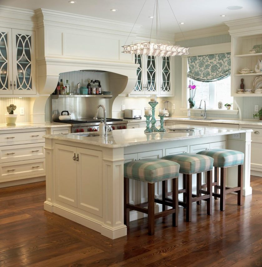 metal-frame-counter-stools-kitchen-traditional-with-window-treatment-blue-and-white-kitchen