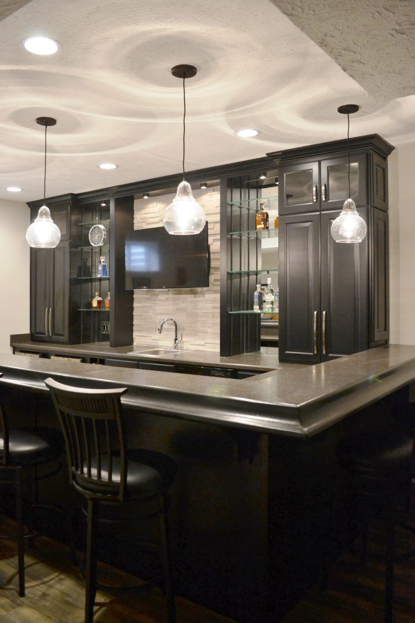 The bar for the kitchen