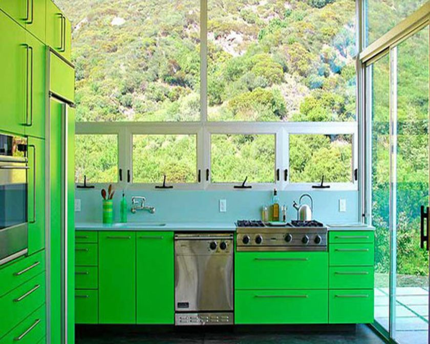 popular-lime-green-kitchen-decor