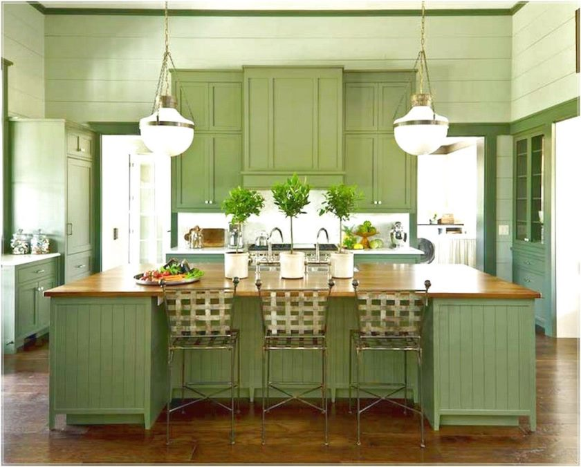 green kitchen cabinets ikea