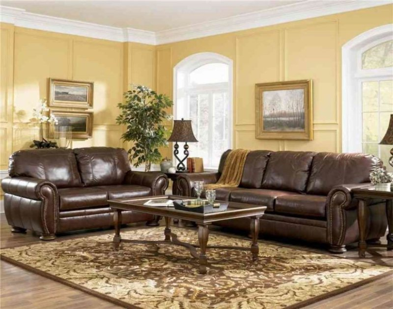 beautiful-living-room-colors-with-brown-furniture