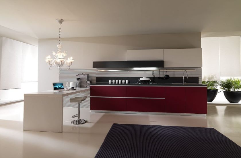 calm-modern-kitchen-with-red-and-white-furniture-luxury-red-kitchen