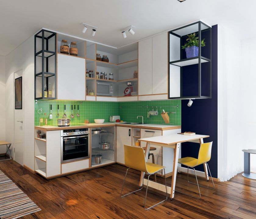 cute-green-kitchen
