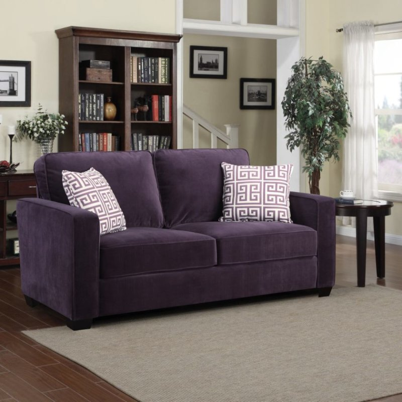 delectable-nice-purple-tufted-loveseat-sofa-with-twin-white-stripped-pillow-case-and-black-wooden-base-ideas-for-modern-interior-decorating-living-room-furniture