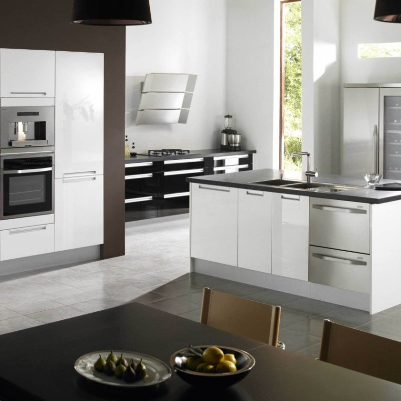 kitchen-immaculate-white-glossy-kitchen-island-and-built-in-white-modern-kitchen-cabinets-added-dark-brown-din