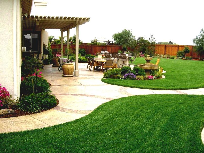 landscaping-ideas-for-backyard-landscape-design-with-fence-the-garden-inspirations-simple