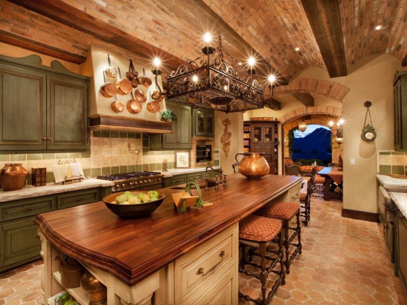 mediterranan-kitchen-brick-wall-rustic-country-kitchen-tables-floor-to-ceiling-kitchen-cabinet-the-traditional-kitchen-kitchen-open-shelves