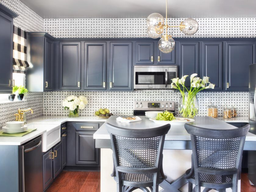 kitchen of a new construction home