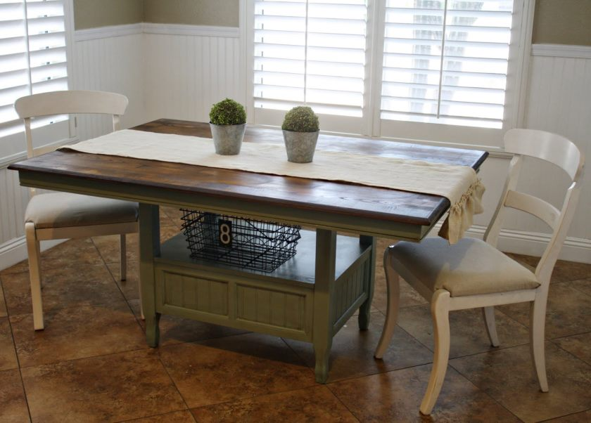 rustic-wooden-kitchen-table