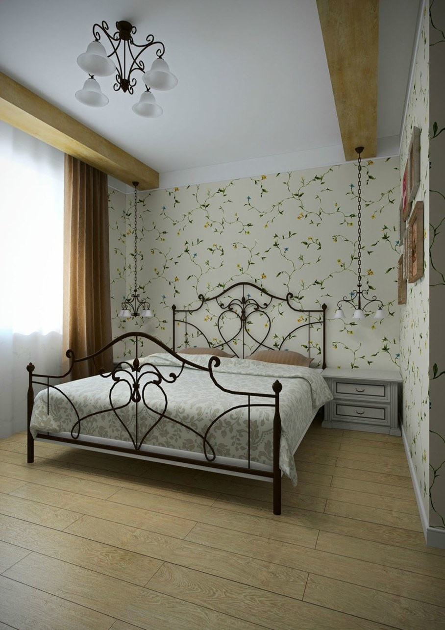 The bedroom in the style of Provence