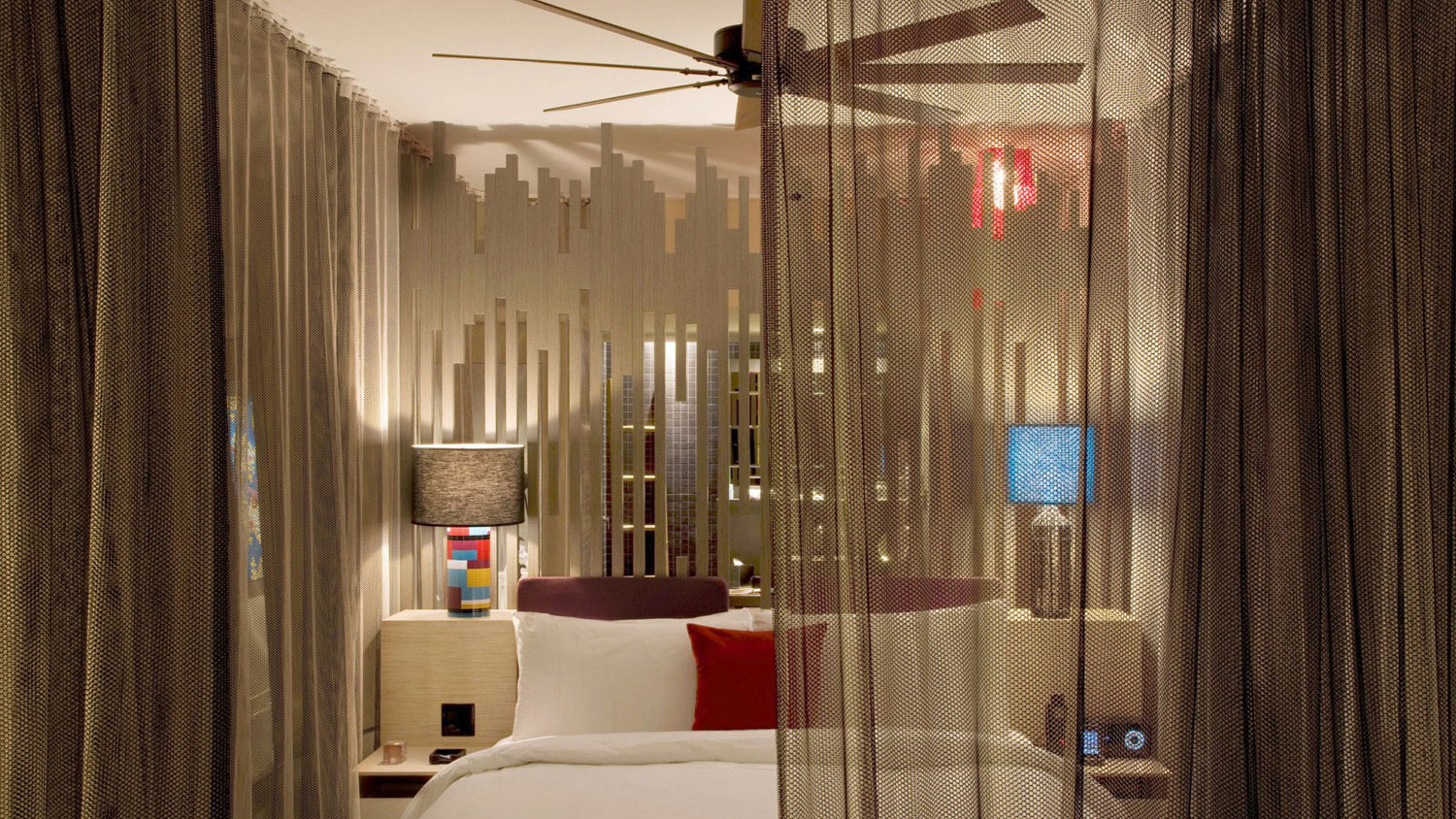 astounding-bedroom-design-with-brown-curtains-at-w-hotel-spa