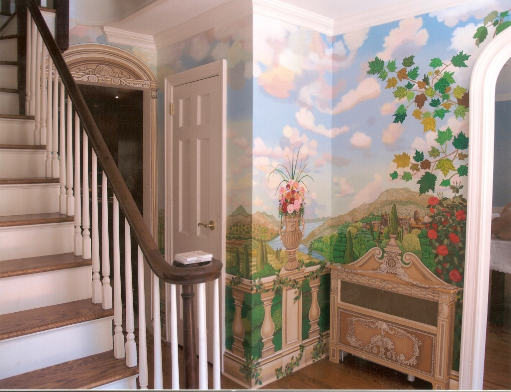 back-wall-of-tuscany-garden-mural-for-hallway-great-neck-ny