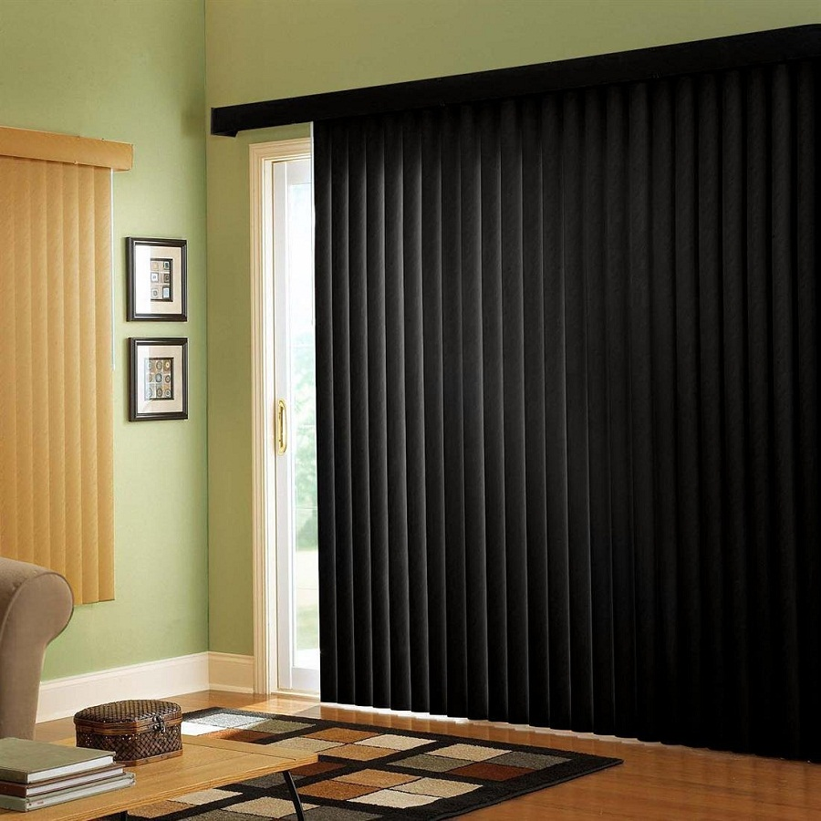 black-sliding-glass-door-curtains