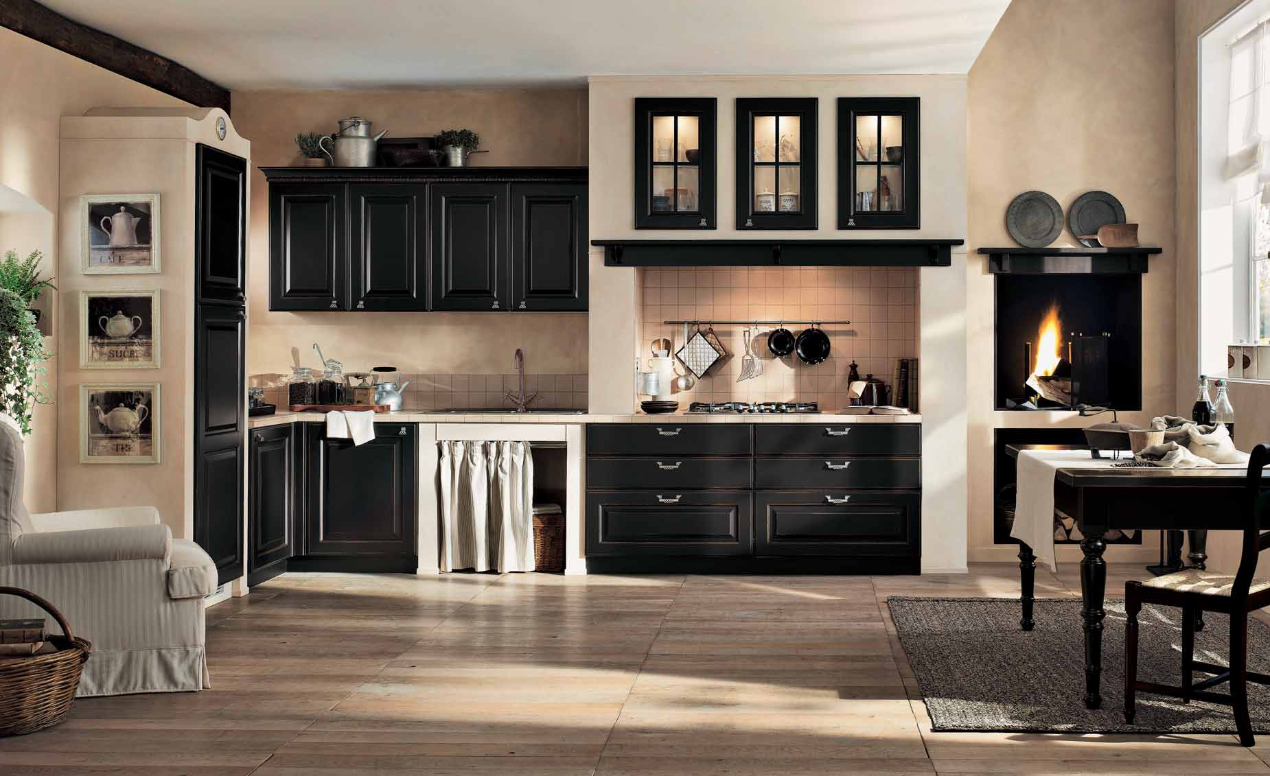black-and-cream-gaia-classic-kitchen-interior