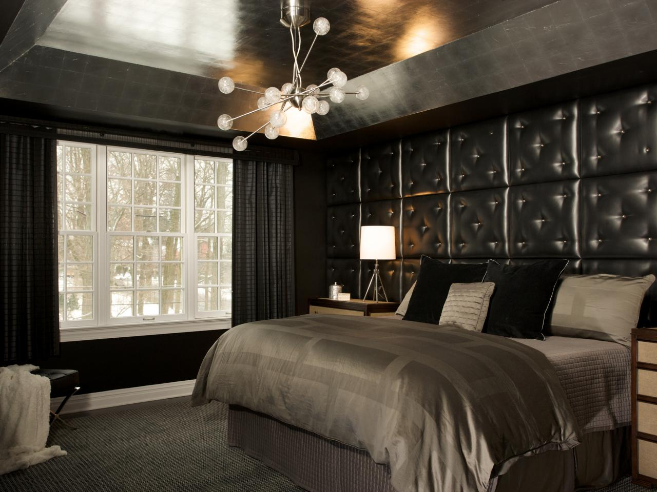 black-bedroom-with-leather-headbord