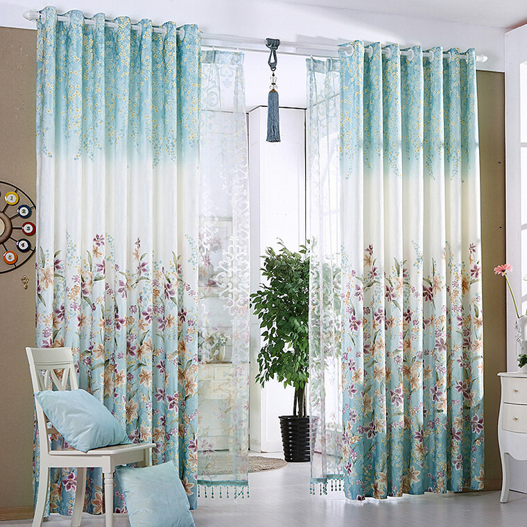 blue-american-country-style-jacquard-material-floral-curtains-cmt17841-1