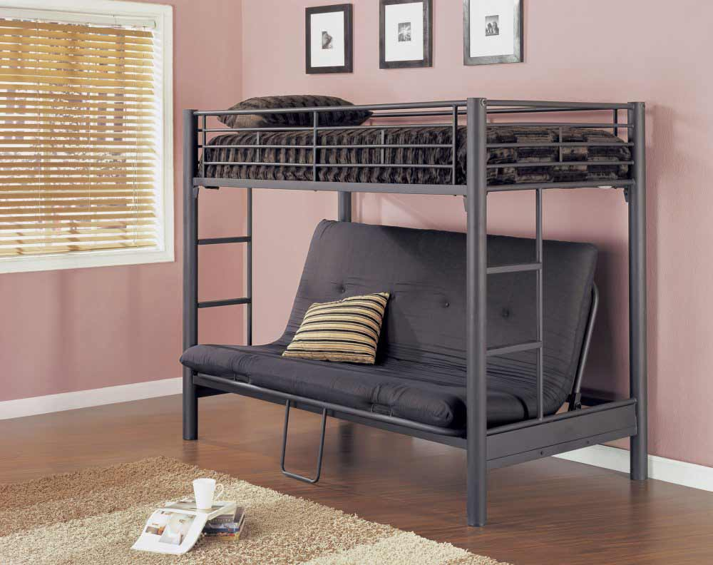 bunk-bed-for-adults-with-matte-black-futon-furniture