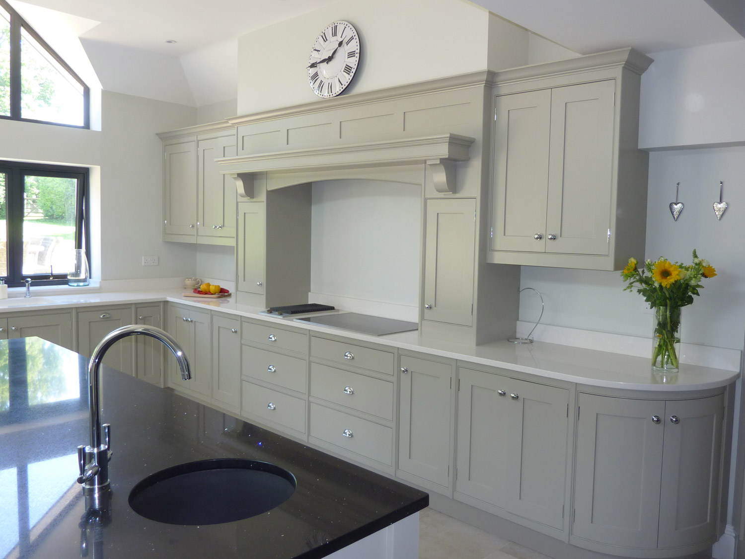 classic-grey-painted-kitchen