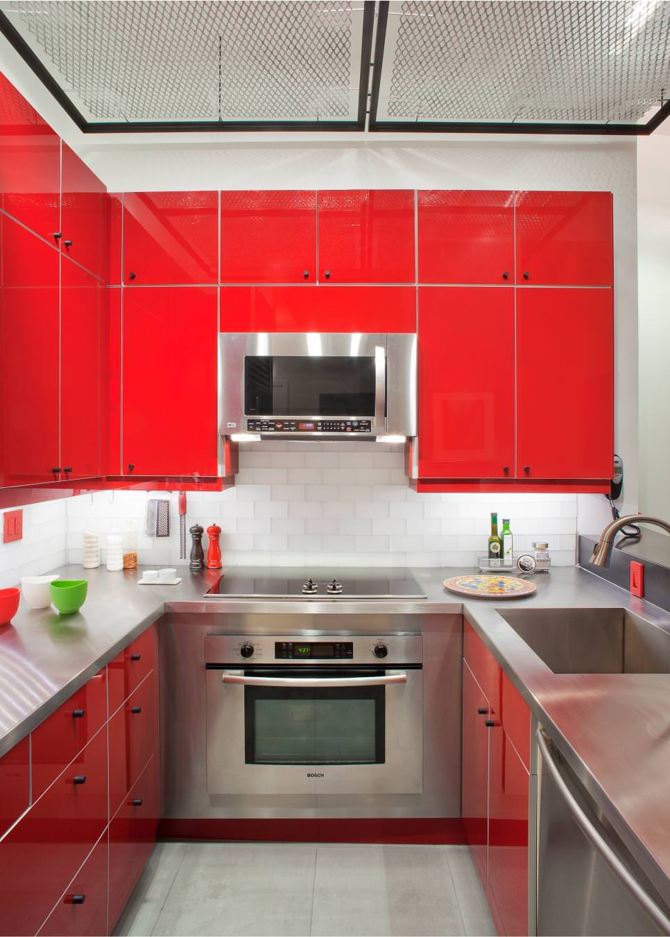 classy-red-kitchen-cabinets