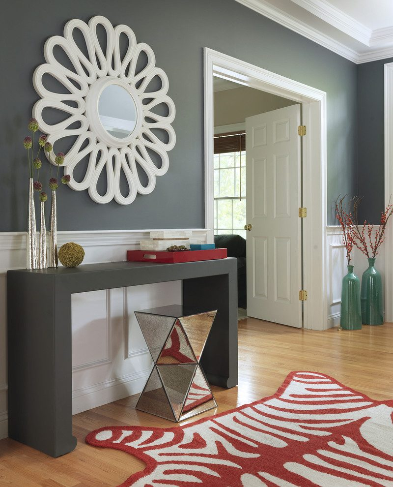 console-mirror-entrance-transitional-with-wood-trim