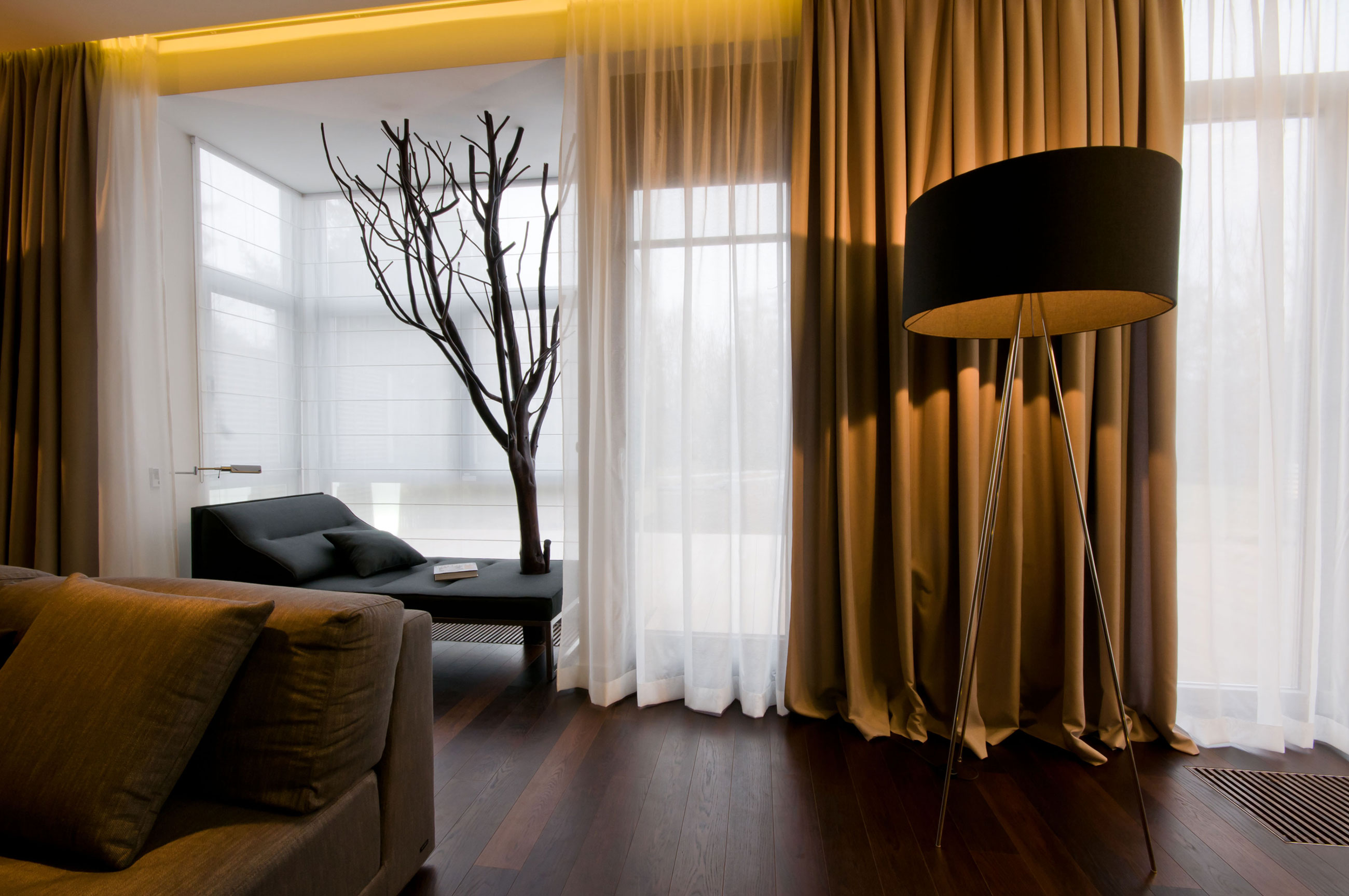 contemporary-brown-curtains-for-living-room