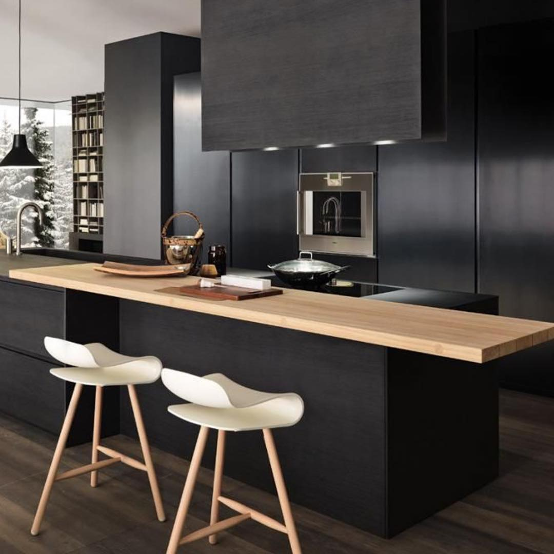 cool-hotel-like-black-kitchen-cabinets