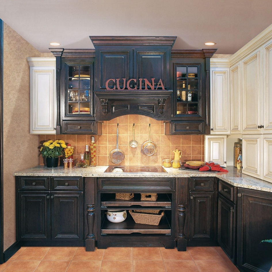 distressed-black-kitchen-cabinets