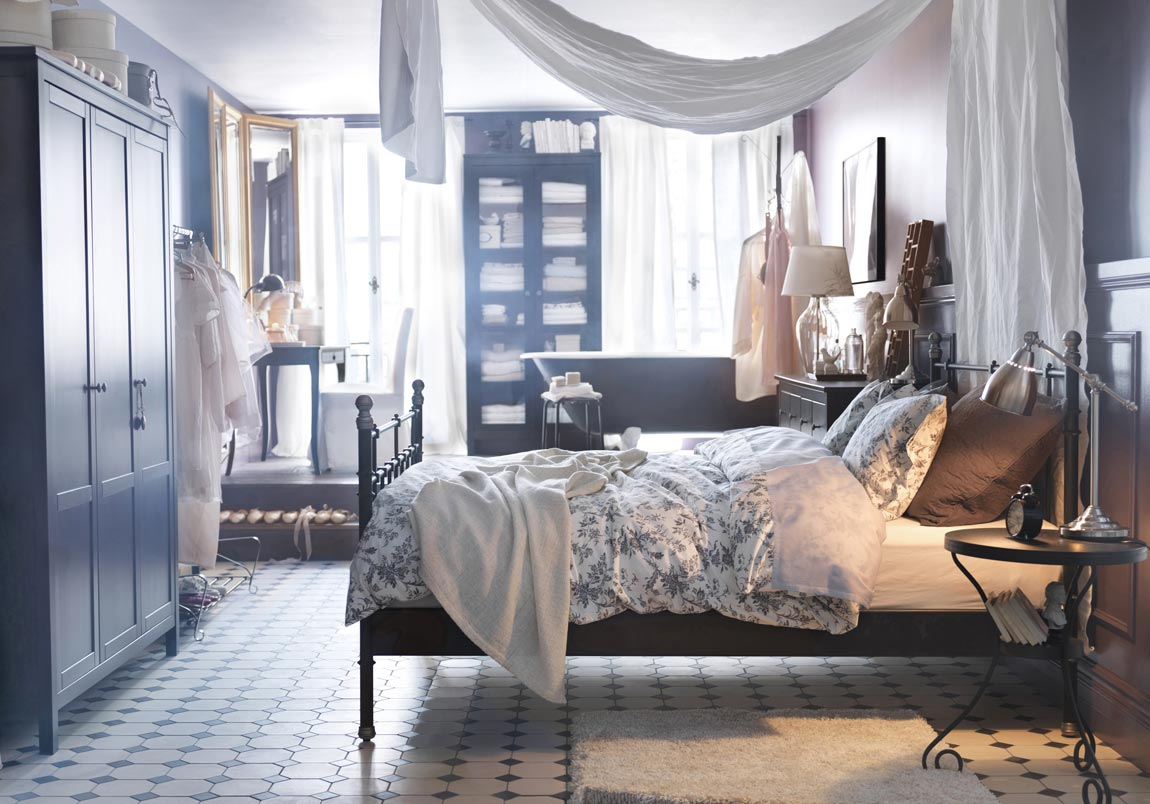 enchanting-apartment-vintage-ikea-design-inspiration-identify-voluptuous-king-size-bed-with-winsome-wooden-wardrobe-also-delightful-wooden-dresser-table-decorating-ideas