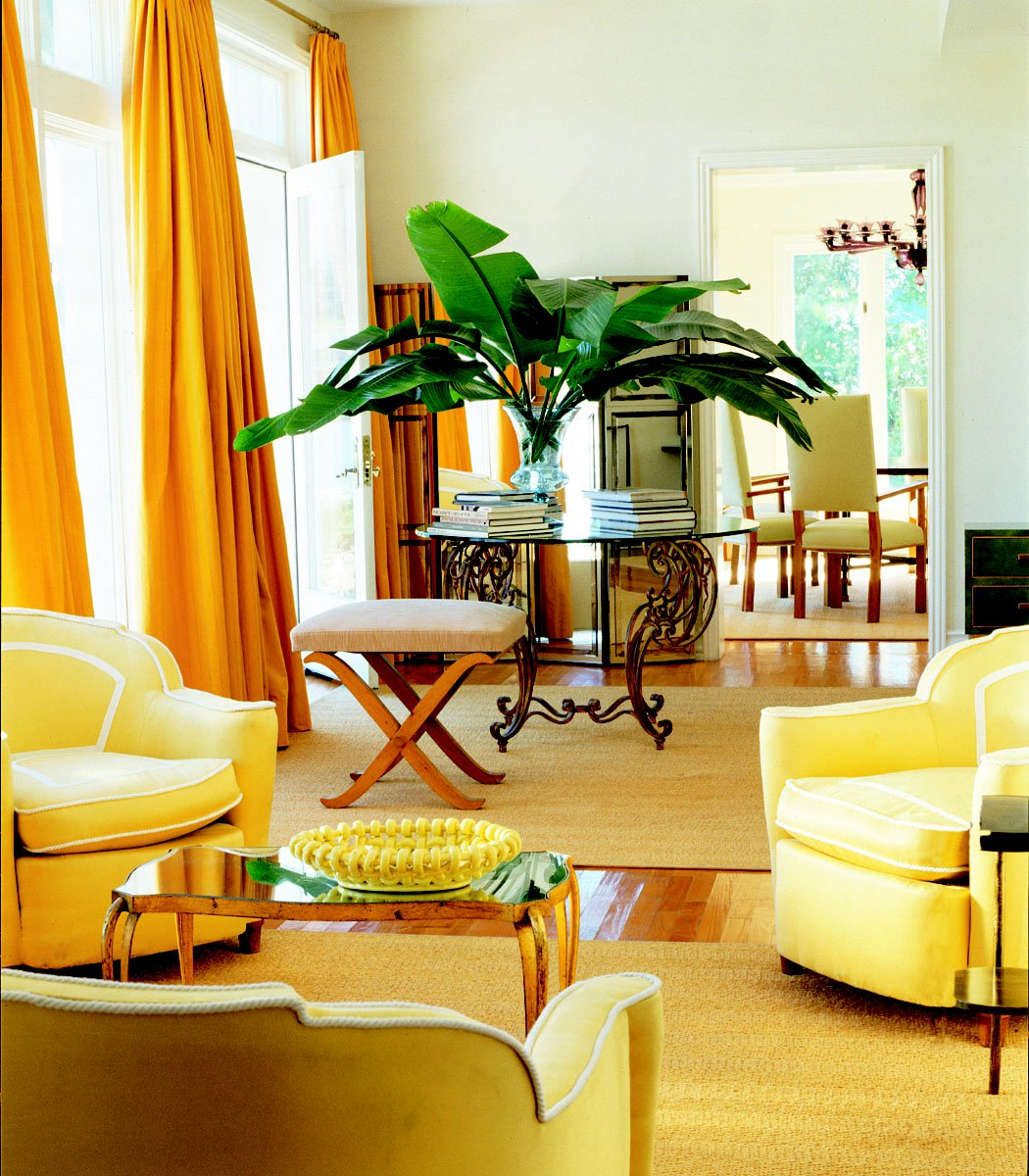 floor-ceiling-lemon-yellow-curtains-add-drama-living-room