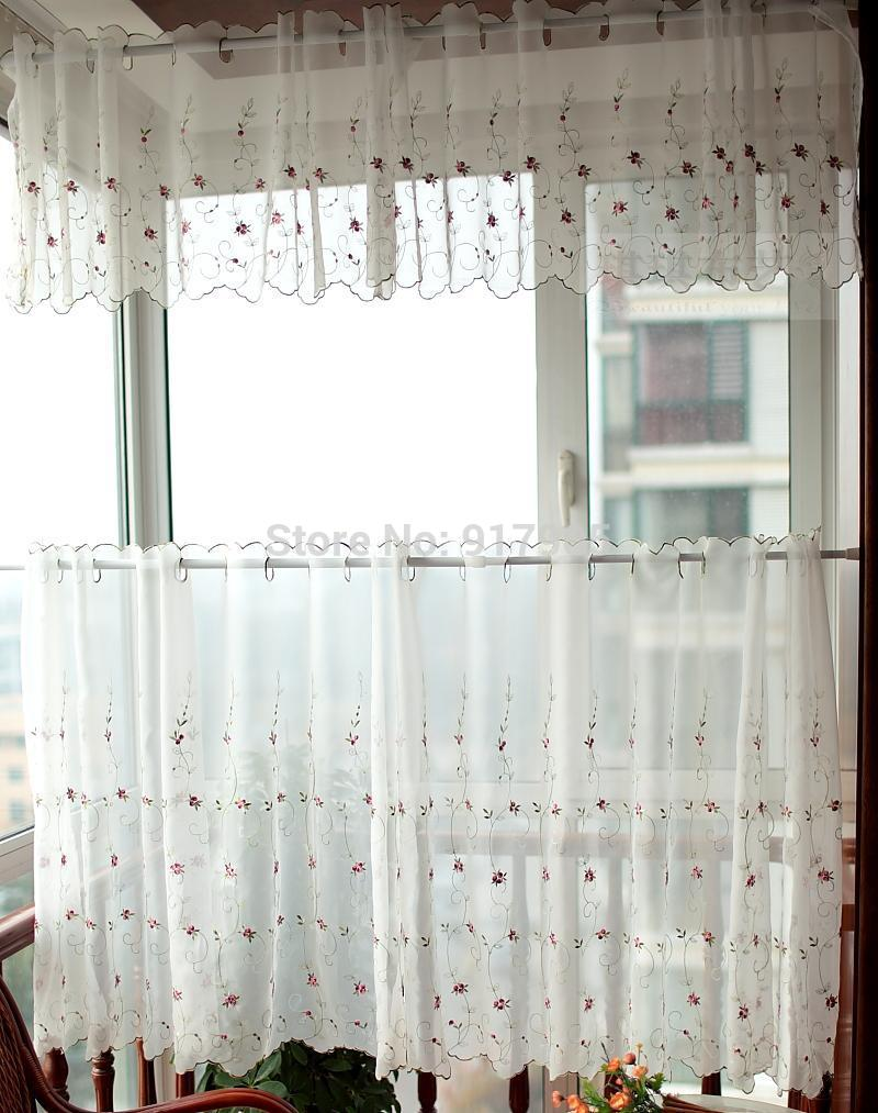 free-shipping-romantic-little-red-rose-embroidered-valance-kitchen-curtains-elegant-embroidered-sheer-tulle-curtains