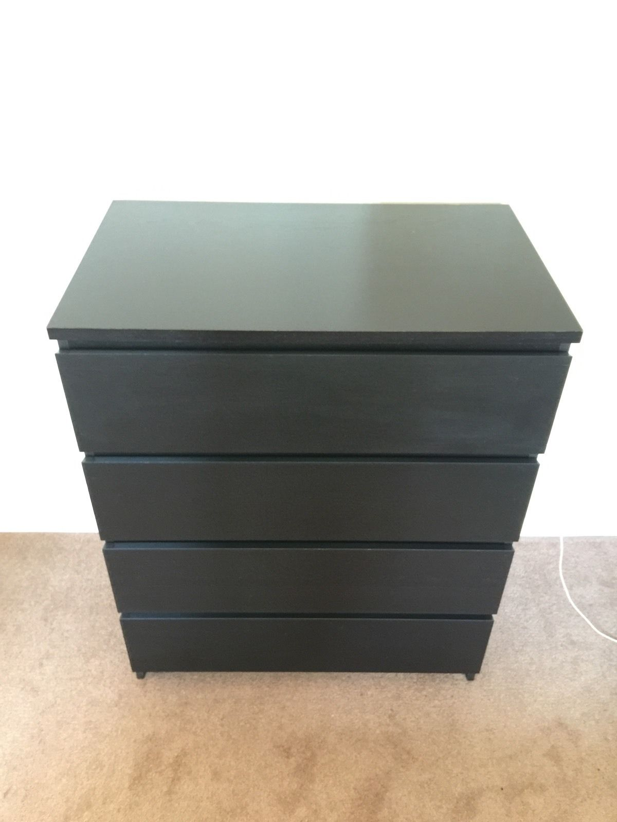 ikea-bedroom-malm-chest-of-4-draws-black-brown