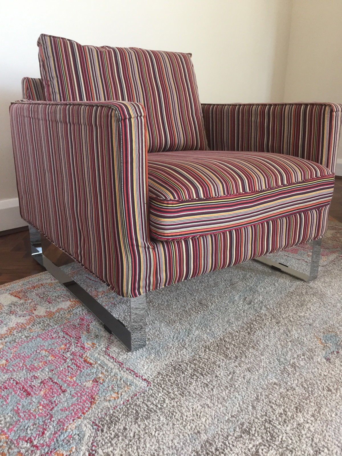 ikea-mellby-armchair-and-striped-cover