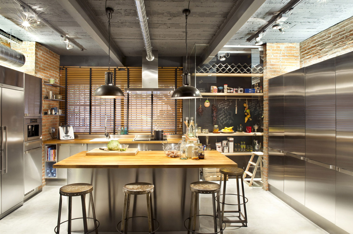 kitchen-pendant-lighting-loft-style-home-terrassa-spain