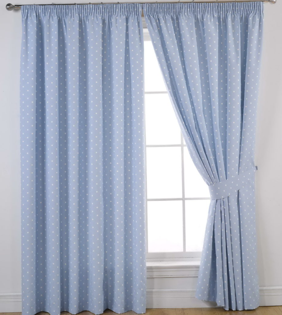 Blue and white curtain 2