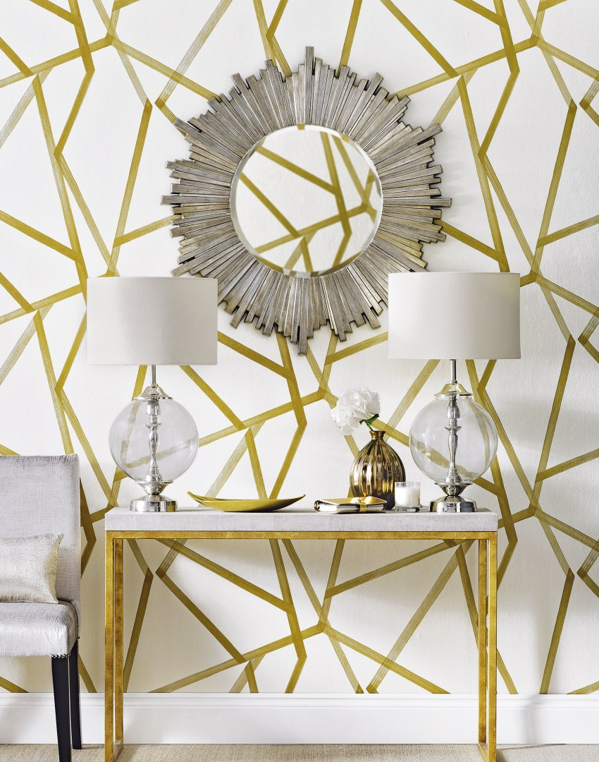 luxe-gold-and-white-hallway