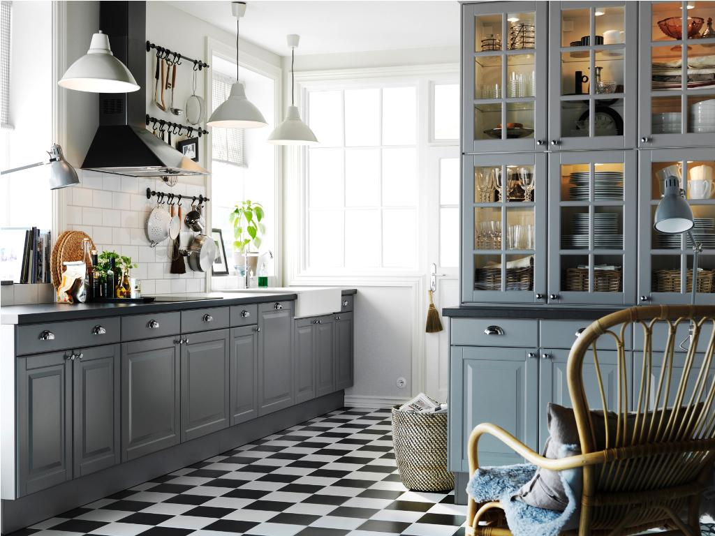 nautical-theme-grey-kitchen-cabinets