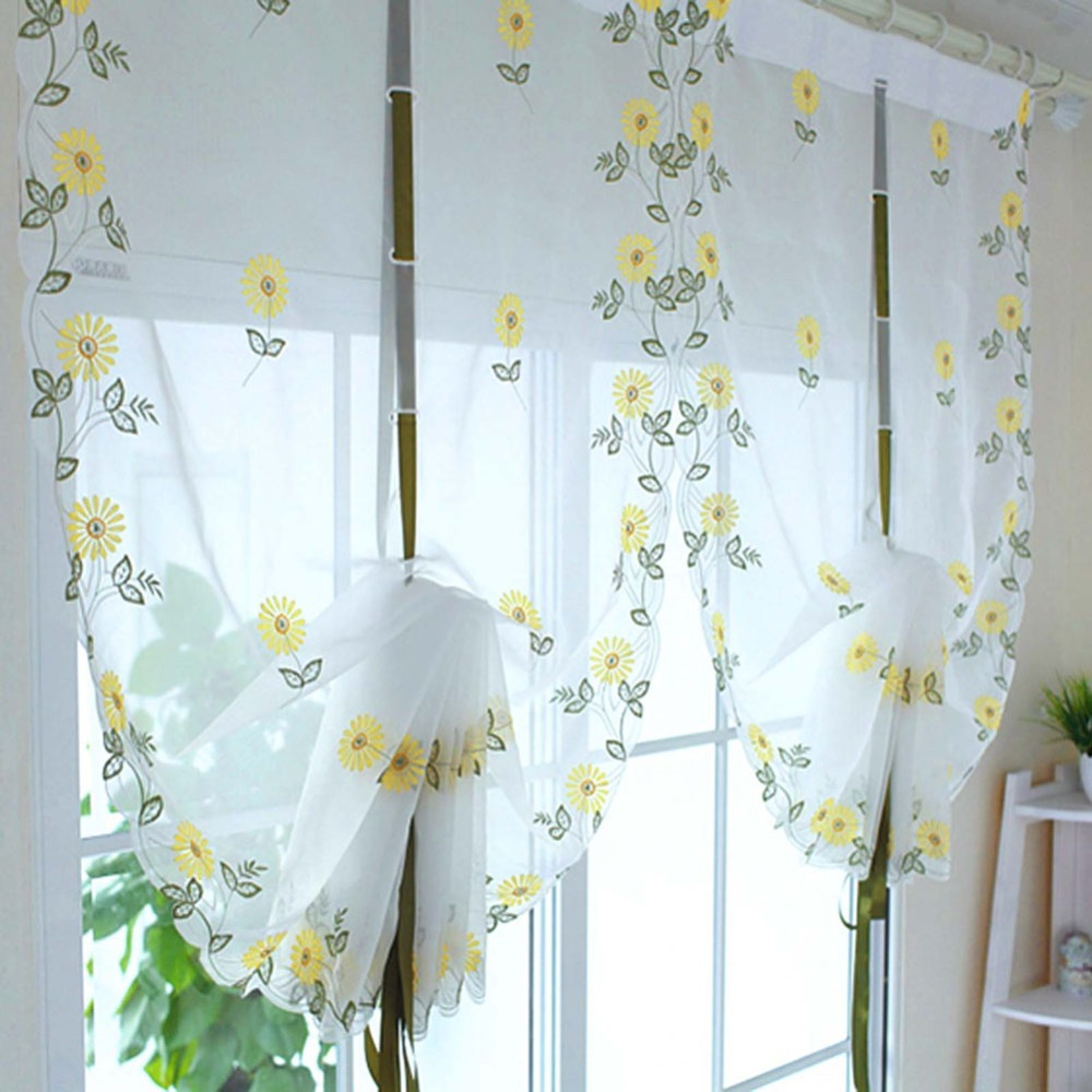 new-embroidered-font-b-sunflowers-b-font-shade-sheer-voile-cafe-font-b-kitchen-b-font