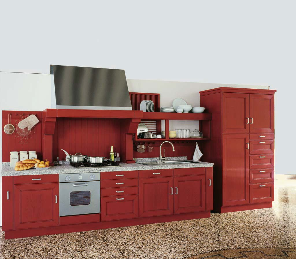 old-red-kitchen-cabinets