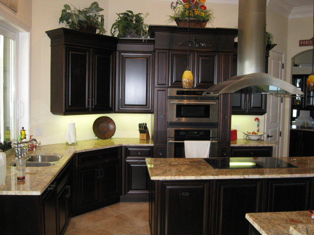 perfect-idea-of-wooden-black-kitchen-cabinets-with-granite-countertop-also-modern-stove