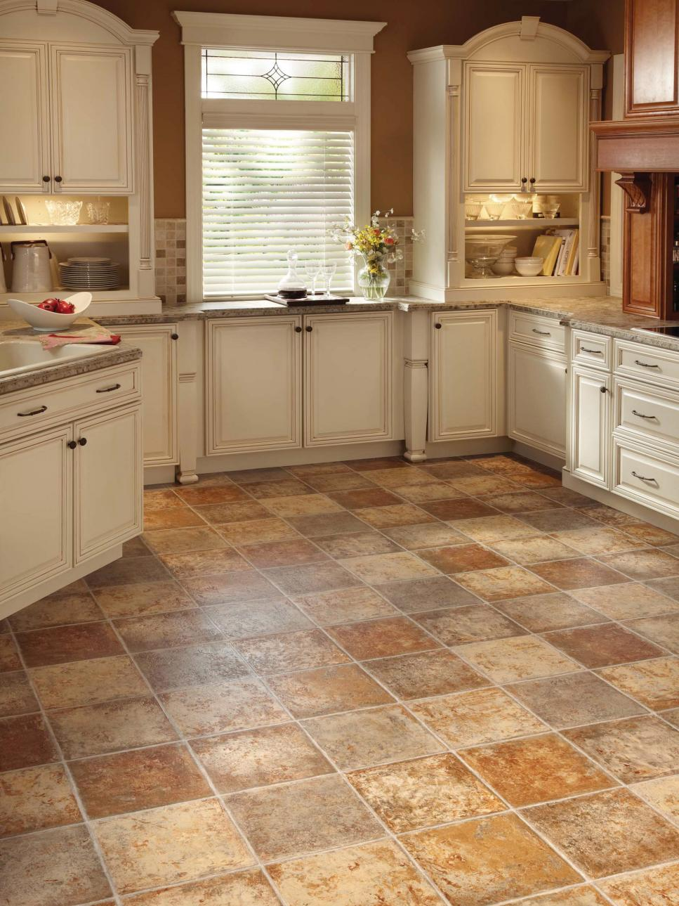 Kitchen floor ceramic tiles