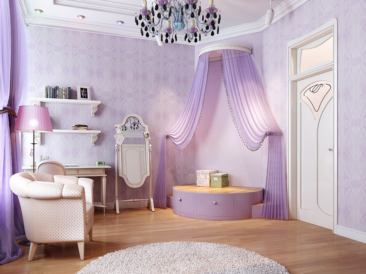 sweet-purple-color-beautiful-chandelier-curtain-images-interior-design