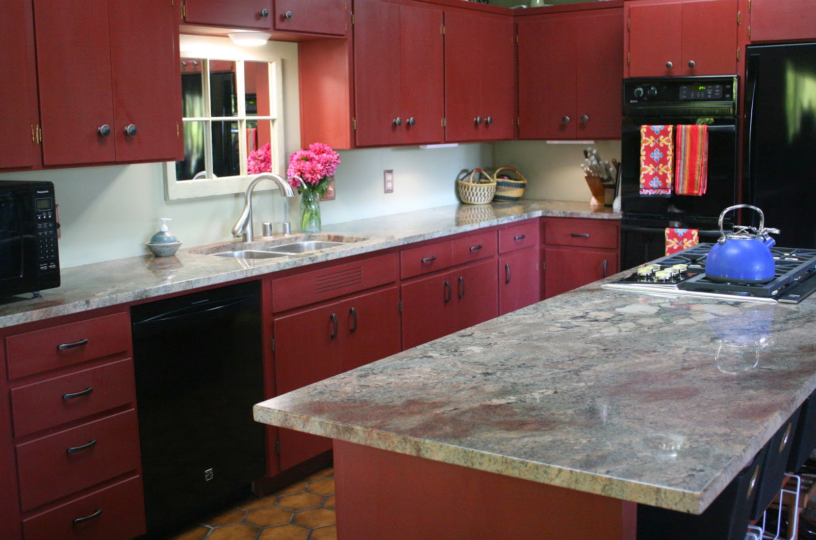 top-red-kitchen-cabinets