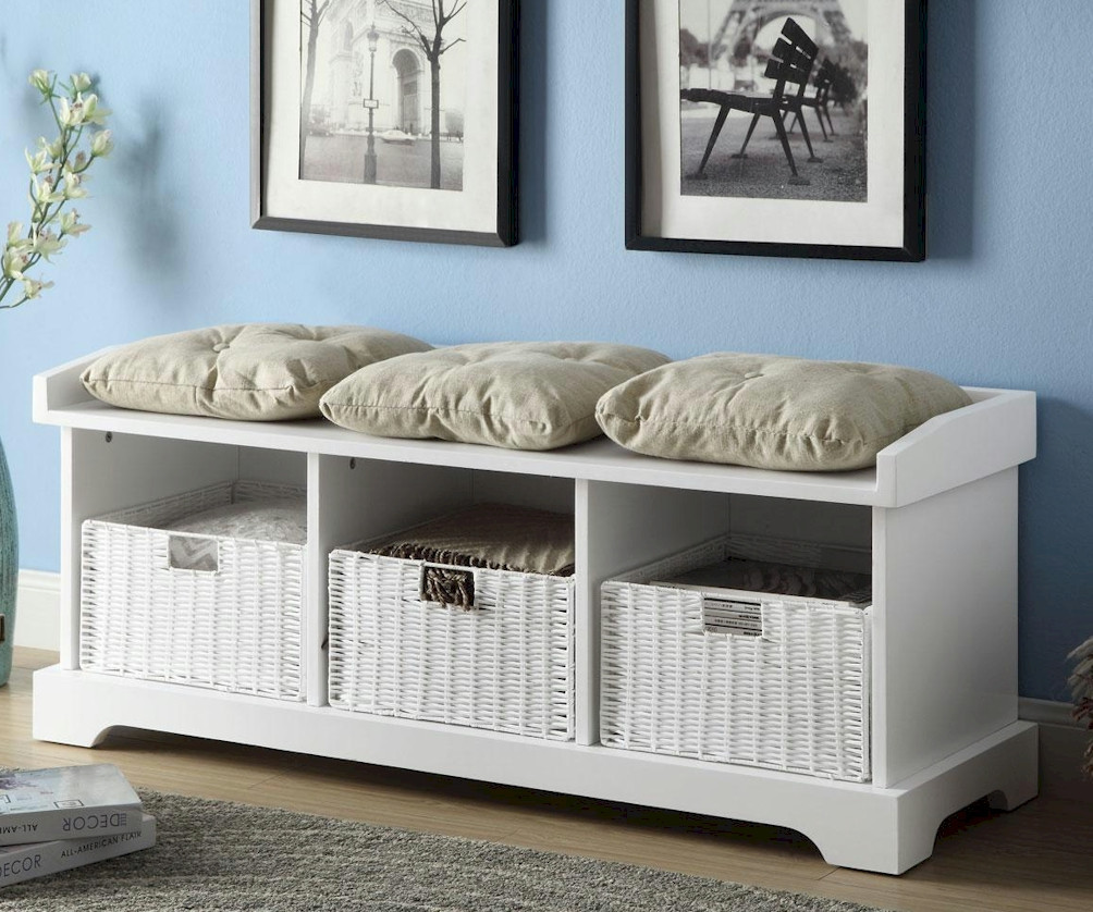 a-white-wooden-bench-design-with-white-rattan-storage-boxes-underneath-and-three-throw-pillows